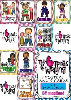 The Six traits of Writing (9 Posters and 9 Cards)