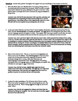 The Sixth Sense Film (1999) Multiple Choice and Short Answer Quiz