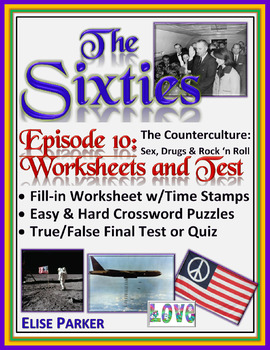 The Sixties Episode 10 Worksheets, Puzzles, and Test