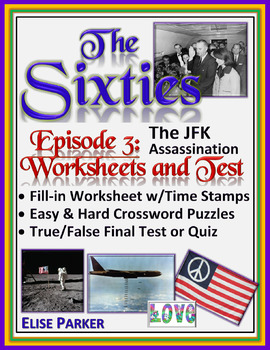 The Sixties Episode 3 Worksheets, Puzzles, and Test