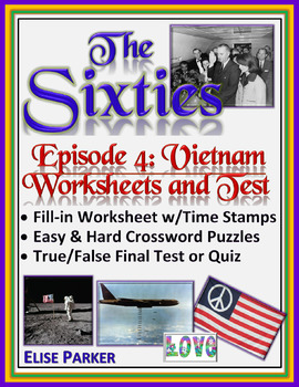 The Sixties Episode 4 Worksheets, Puzzles, and Test