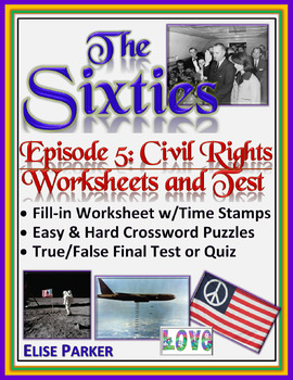The Sixties Episode 5 Worksheets, Puzzles, and Test