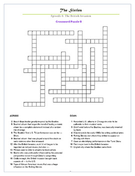The Sixties Episode 6 Worksheets, Puzzles, and Test