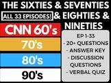 The Sixties + Seventies + Eighties+ Nineties  CNN Ep. 1-33 Bundle