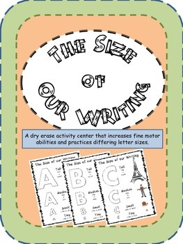 The Size of Our Writing- Uppercase