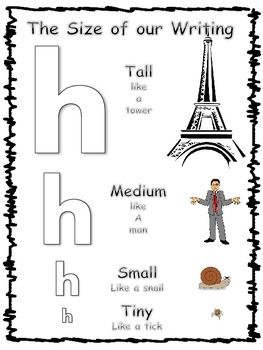 The Size of Our Writing- lowercase