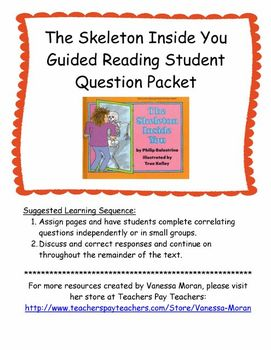 The Skeleton Inside You Guided Reading Student Question Packet