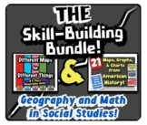 The Skill-Building Bundle!  Integrating Geography & Math into Social Studies!