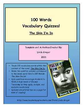The Skin I'm In!-100 Words Quizzes