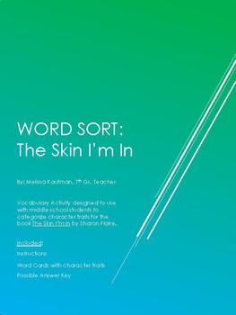 The Skin I'm In Characterization Word Sort