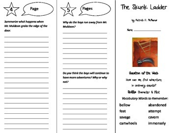 The Skunk Ladder Trifold - Reading Street 5th Grade Unit 5 Week 1