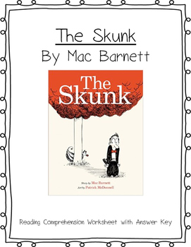 The Skunk Reading Comprehension