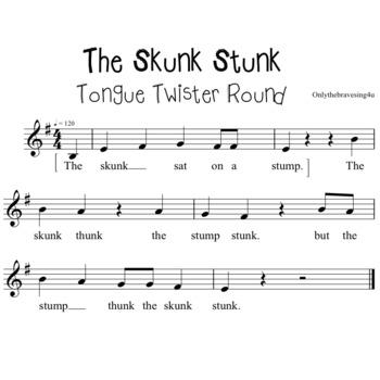 The Skunk Stunk ♫ Singing, Chorus or Music Round ♫