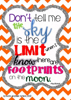 The Sky Isn't The Limit- An Inspirational Quote for Your Classroom