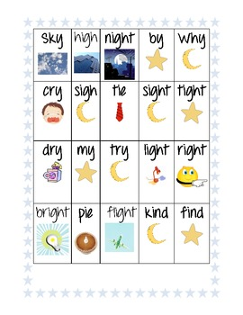 The Sky at Night! Fun with the Long Vowel I patterns