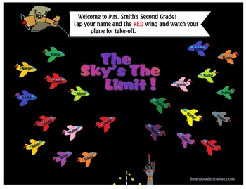 The Sky's the Limit Smartboard Attendance