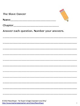 The Slave Dancer Novel Study