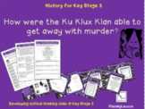 The Slave Trade: 'How were the Ku Klux Klan able to get aw