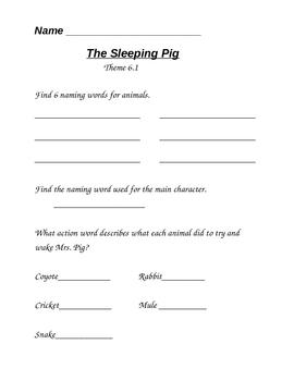 The Sleeping Pig Anthology Activity