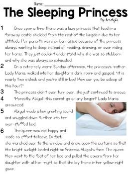 The Sleeping Princess (Lit) Text & Answer Set - FSA/PARCC-