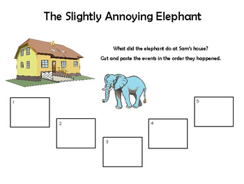 The Slightly Annoying Elephant - Literacy Activities