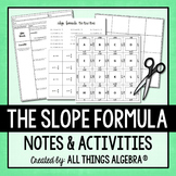 Slope Formula Notes & Activities