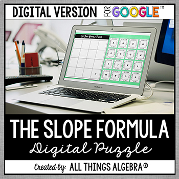 The Slope Formula Puzzle - GOOGLE SLIDES VERSION