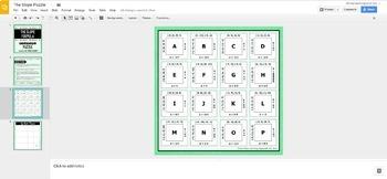 The Slope Formula Puzzle - GOOGLE SLIDES VERSION
