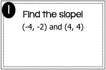 Slope Formula Triples Activity
