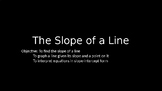 The Slope of a Line PowerPoint Lesson (2.3)