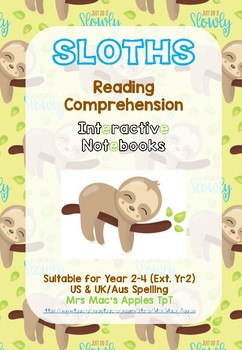 The Sloth Interactive Notebook Non-fiction Reading Package