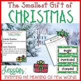 The Smallest Gift of Christmas Vocabulary Lesson and Book Companion