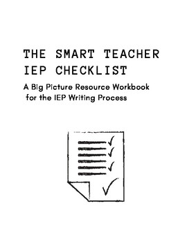 The Smart Teacher IEP Checklist
