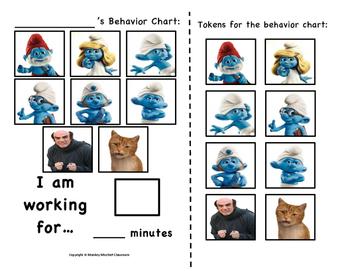 The Smurfs Movie Token Behavior Chart!