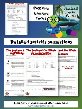 The Snail and the Whale Flashcards, Matching cards and Mini-cards - Nature Unit