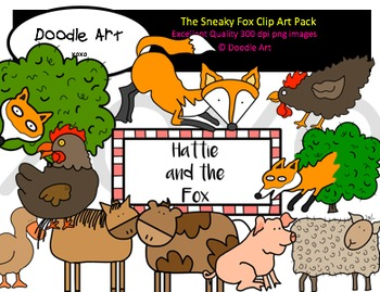 The Sneaky Fox Clipart Pack