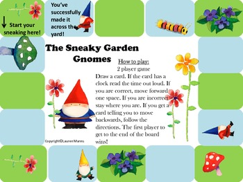 The Sneaky Garden Gnome: A Telling Time Game to the nearest 5 minutes