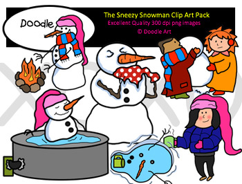 the snowman clipart pack by clipart for teachers tpt the snowman clipart pack