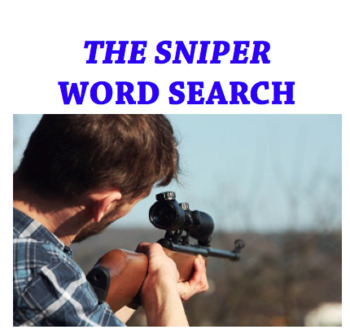 The Sniper Vocabulary Word Search