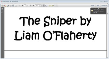 The Sniper by Liam O'Flaherty Flip book