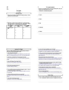 Lesson: The Sniper by Liam by O'Flaherty Lesson Plan, Worksheets, Key, PPT