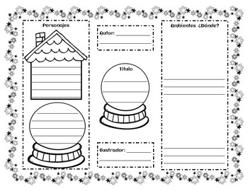 THE SNOW GLOBE FAMILY Activities with Writing Starters - Spanish