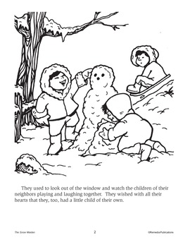 The Snow Maiden: Read & Color