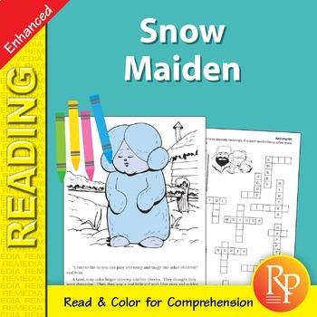 The Snow Maiden: Read & Color - Enhanced
