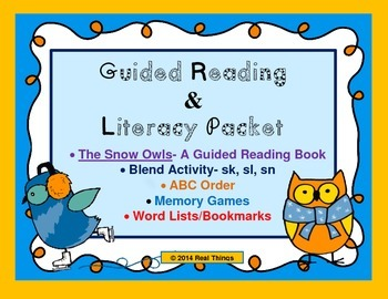 Guided Reading and Literacy Packet- The Snow Owls
