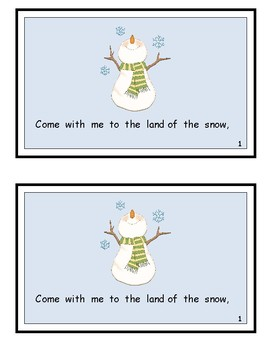 The Snow People Reproducible Guided Reader