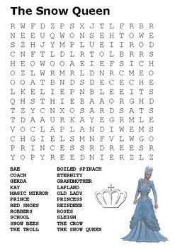 The Snow Queen Fairy Tale Word Search