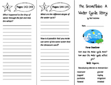 The Snowflake: A Water Cycle Story Trifold - Imagine It 4th Grade Unit 2 Week 1