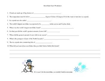 The Snowflake for Reading Comp. Language arts and Science