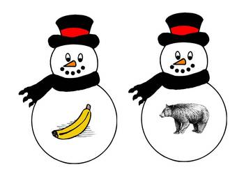 The Snowman Alliteration Game - A Winter Phonemic Awareness Game